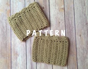 Crochet Boot Cuffs Pattern, PDF Download PATTERN