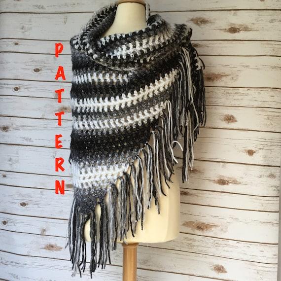 Isaac Mizrahi Craft Yarn Crochet Shawl Pattern Chunky Crochet Etsy