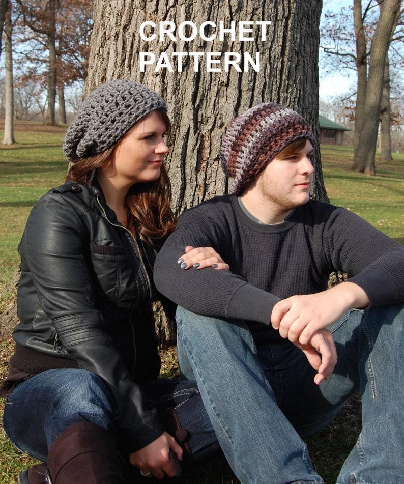 2ce1a4bef94 Brimless Slouchy Beanie Crochet pattern Super Easy Crochet