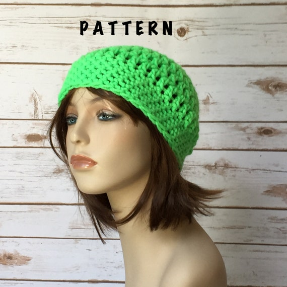 Rockland Beanie Hat PATTERN Super Easy Crochet Beanie Hat  ae1e2216109