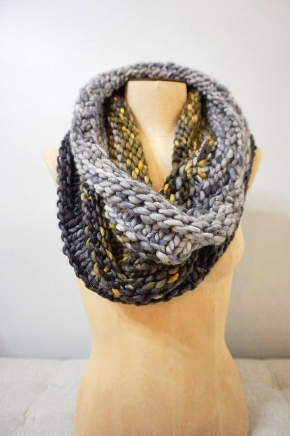 Chunky Cowl Knitting Pattern Bulk Knit Cowl Pattern Central Etsy