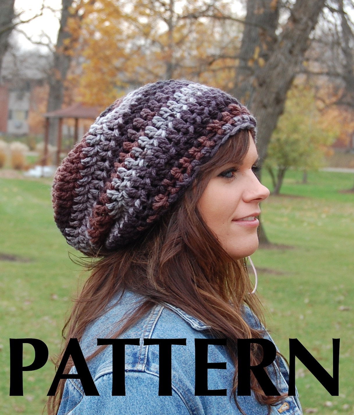 Brimless Slouchy Beanie Crochet pattern, Super Easy Crochet Hat ...