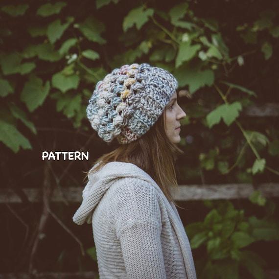 Chunky Puff Stitch Crochet Hat Pattern Super Easy Crochet Hat Etsy
