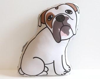 Bulldog Pillow // Illustrated Dog Pillow