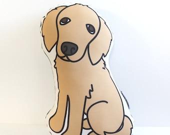 Golden Retriever Pillow // Illustrated Dog Pillow