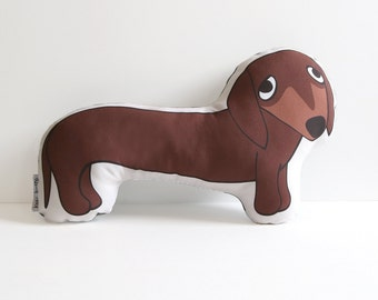 Dachshund Pillow // Illustrated Dog Pillow