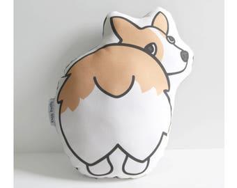 Corgi Butt Pillow // Illustrated Dog Pillow