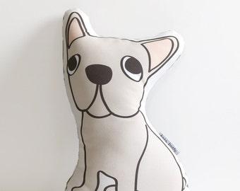 Fawn French Bulldog // Illustrated Dog Pillow