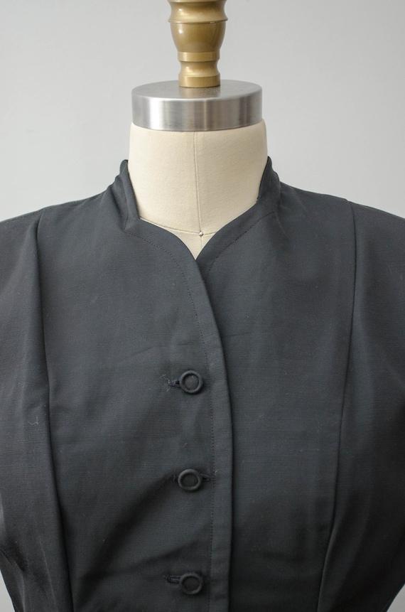 1940s black skirt suit   taffeta skirt suit   Jea… - image 4