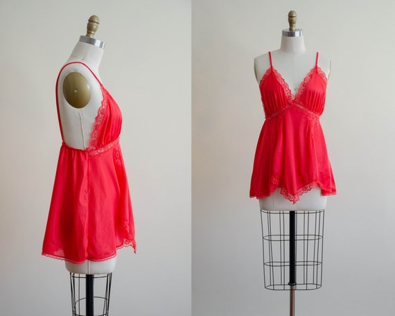 red negligee top | silky negligee