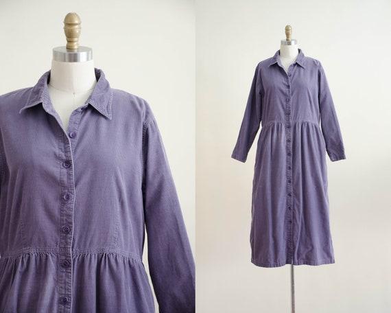 purple corduroy dress | oversized dress