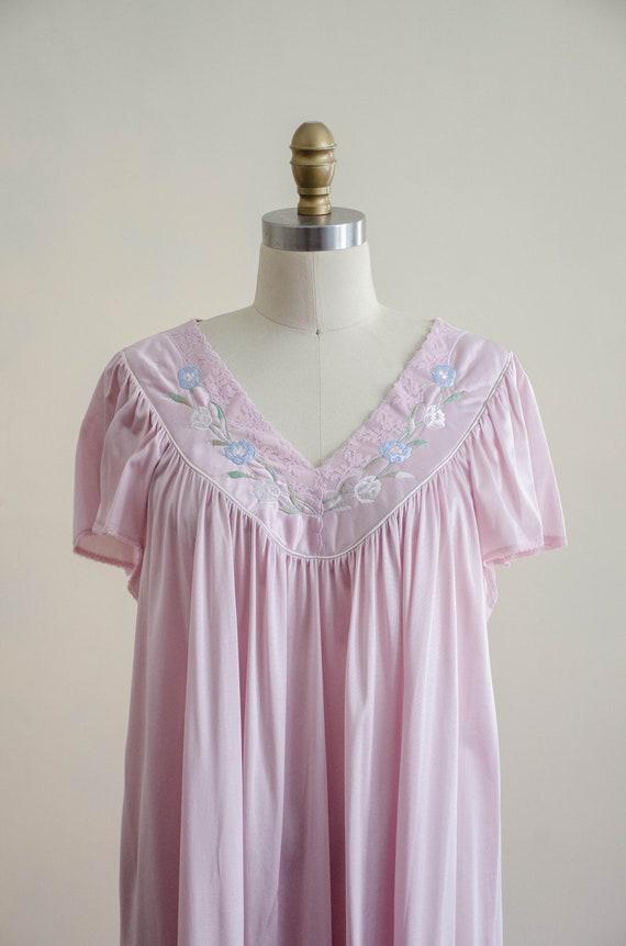 silky pink slip nightgown | pastel Vanity Fair vi… - image 2