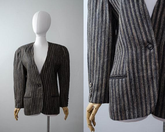 KRIZIA wool blazer | 1980s blazer | boxy wool jack