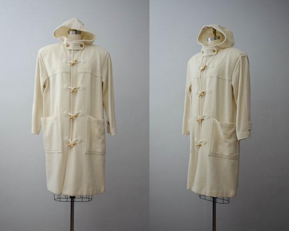 cream duffle coat | cream coat