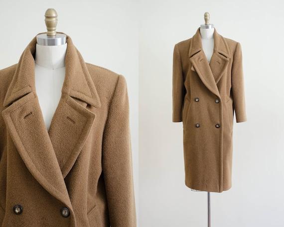 heavy wool coat   brown wool coat