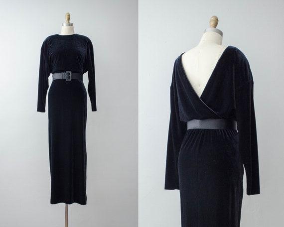 black velvet gown | long sleeve gown