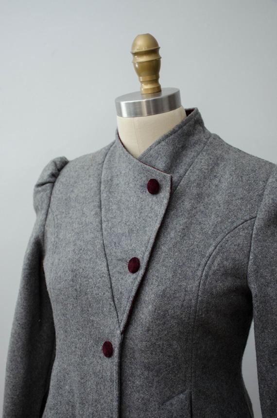 London Fog coat | gray princess coat | wool coat - image 4