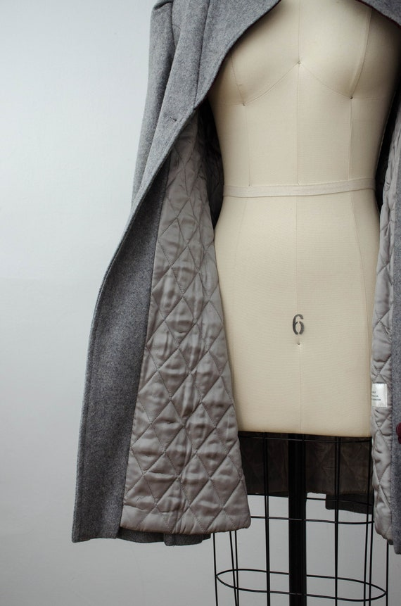 London Fog coat | gray princess coat | wool coat - image 10
