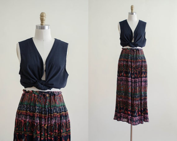 vintage peasant skirt | bohemian skirt | Indian co