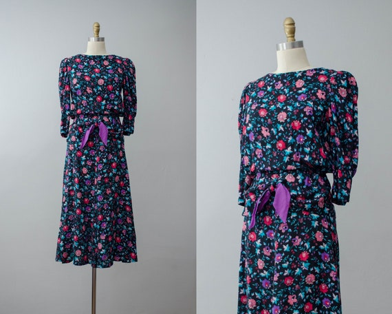 black floral dress   long sleeve dress