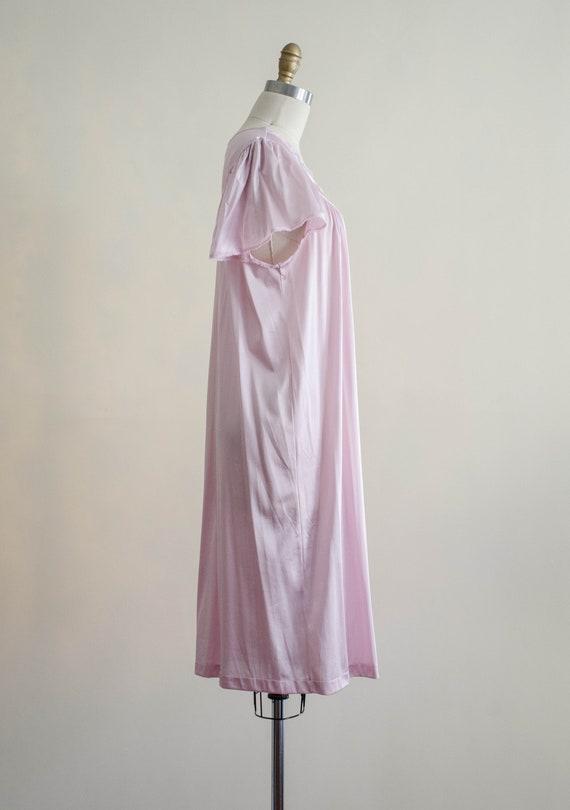 silky pink slip nightgown | pastel Vanity Fair vi… - image 6