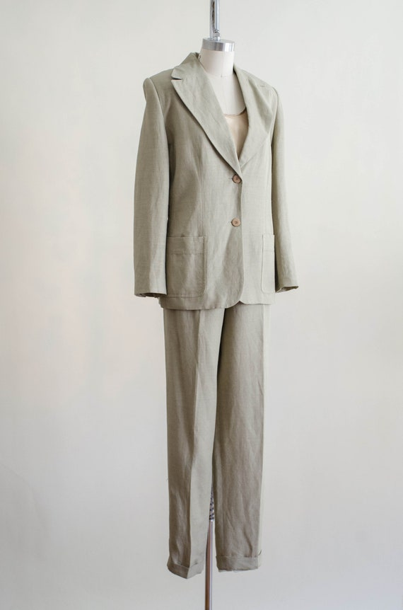 Giorgio Sant'Angelo linen suit   women's beige vi… - image 8