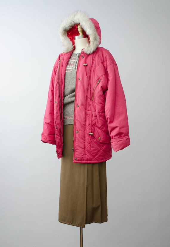 puffy quilted coat   pink quilted jacket   puffer… - image 3