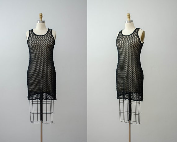 sheer black mini dress | Betsey Johnson dress