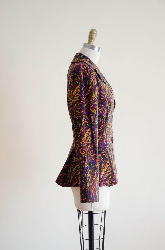 paisley wool blazer   Pauline Trigere blazer - image 5