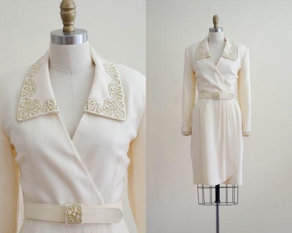 Nolan Miller dress | ivory wool blazer dress