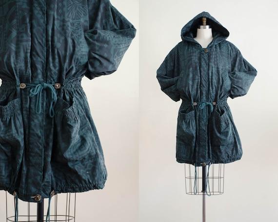 dark green anorak | green puffy jacket