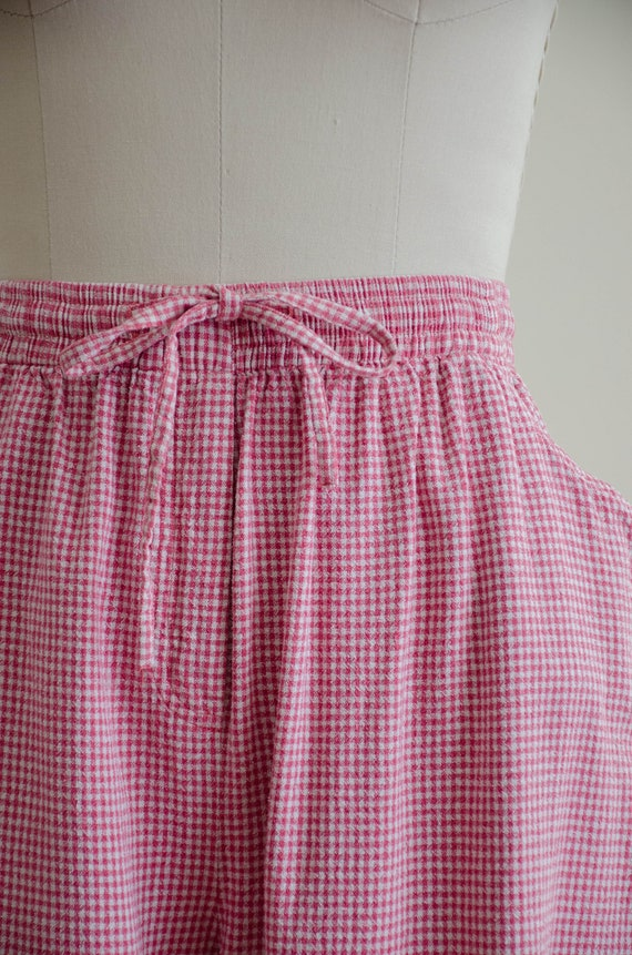 gingham pants set | silk pants set - image 3