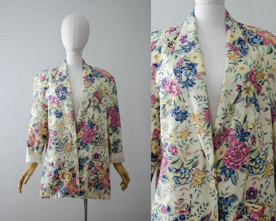 oversized floral blazer | boxy blazer | boxy flora