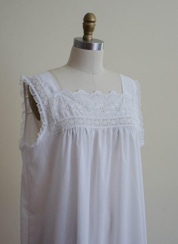 white eyelet nightgown | eyelet lace nightgown - image 2
