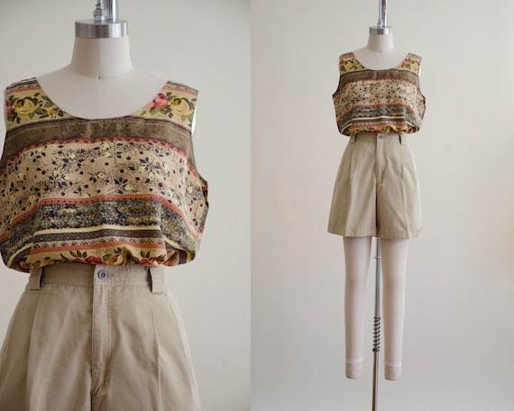 khaki shorts   high waisted shorts