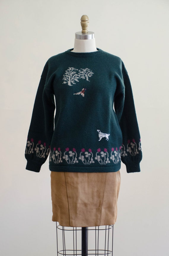 Holland & Holland sweater | green wool sweater | … - image 4