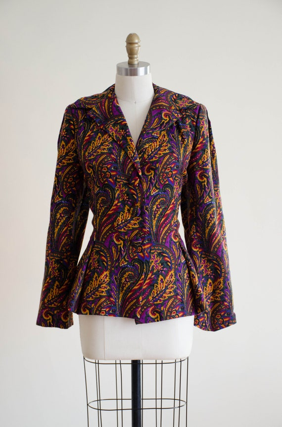 paisley wool blazer   Pauline Trigere blazer - image 2