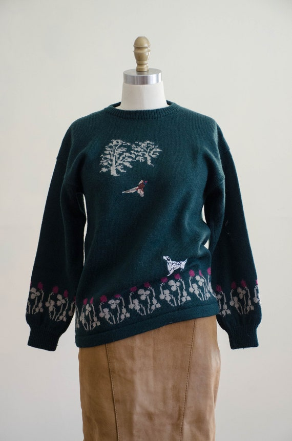Holland & Holland sweater | green wool sweater | … - image 2