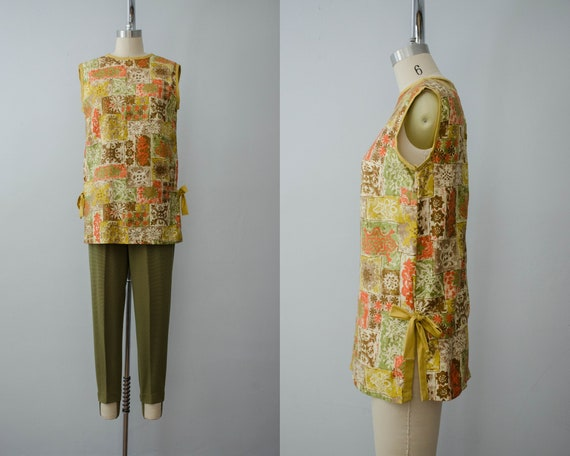 lightweight tunic | 1960s batik cotton tunic