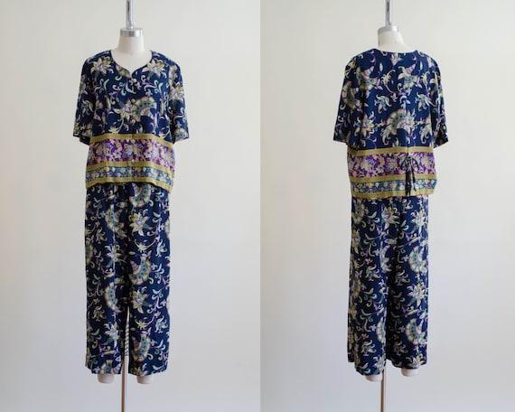 batik lounge set | floral batik set