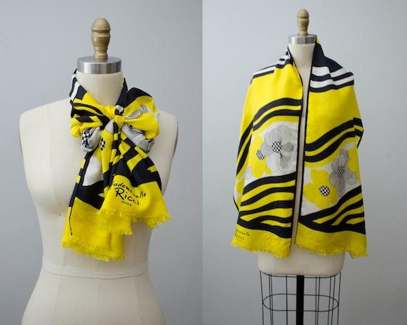 yellow silk scarf | Mademoiselle Ricci designer sc