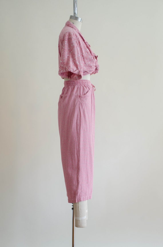 gingham pants set | silk pants set - image 9