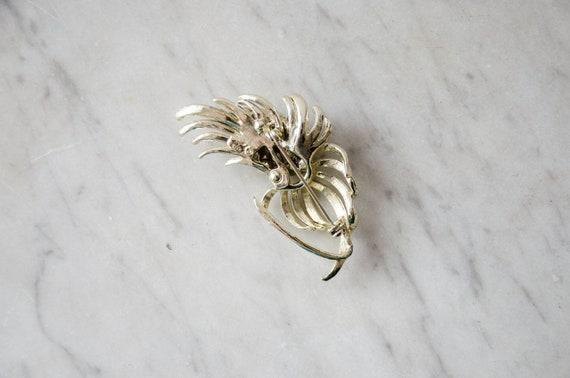 pearl flower brooch | vintage Coro brooch - image 7