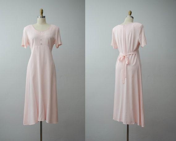 pink midi dress | light pink dress