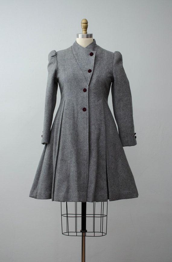 London Fog coat | gray princess coat | wool coat - image 2