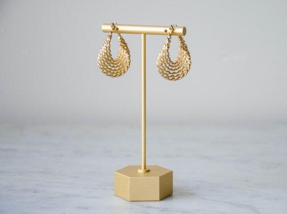 Vintage 1980s Beautiful Extra Large Gold Hoop Earrings Gigantic Hoop Earrings Thin Hoop Earrings Massive Hoop Earrings