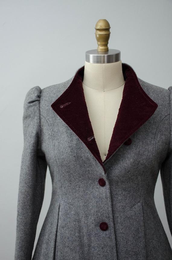 London Fog coat | gray princess coat | wool coat - image 6