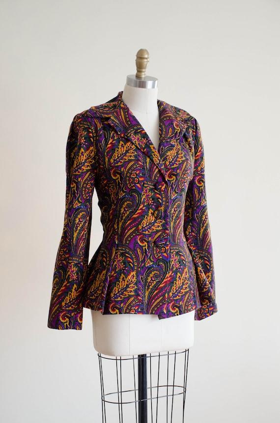 paisley wool blazer   Pauline Trigere blazer - image 4