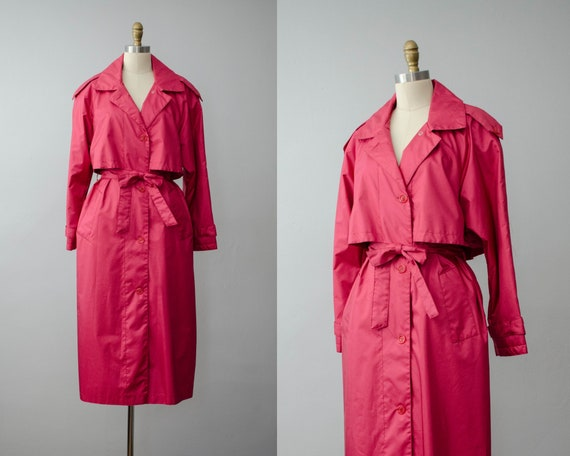 pink trench coat | classic belted trench