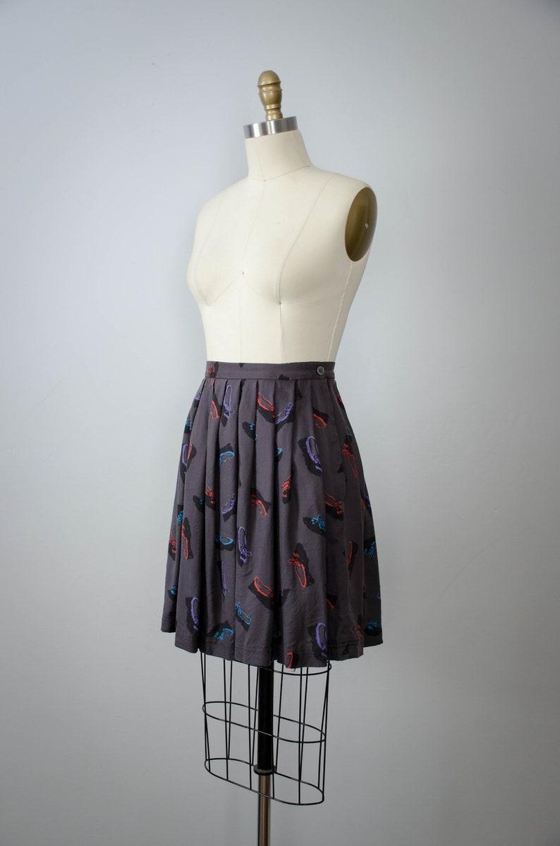 shoe novelty print novelty print skirt purple miniskirt